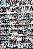 Lots of sneaker shoes — Stock Photo
