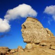Romanian Sphinx, geological phenomenon formed through erosion — Stock Photo
