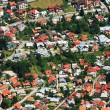 Aerial view of a mountain town — Stock Photo