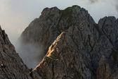Arrampicata nelle Alpi austriache, koenigsjodler ridge, Europa — Foto Stock
