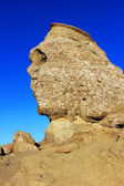Romanian Sphinx, geological phenomenon formed through erosion in Bucegi Mountains — Stock Photo