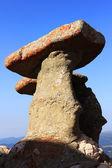 Babele - Geomorphologic rocky structures landmark in Bucegi Mountains, Romania, Europe — Stock Photo