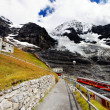Stock Photo: Jungfrau Bahn in Eiger Glacier Railwaystation