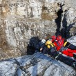 Alpinists contemplating the abyss — Stock Photo