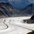 Aletsch Glacier, Berner Oberland, Switzerland — Stock Photo