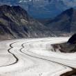 Aletsch Glacier, Berner Oberland, Switzerland — Stock Photo