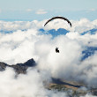 Paragliding over the Swiss Alps — Stock Photo
