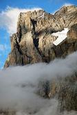 Wetterhorn Peak (3692m) over Grindelwald village, Switzerland — Zdjęcie stockowe