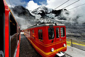 Jungfrau Bahn in Kleine Scheidegg Railwaystation, Switzerland — Stock Photo
