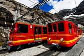 Jungfrau Bahn in Eiger Gletscher Railwaystation, Switzerland — Stock Photo