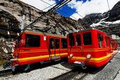 Jungfrau Bahn in Eiger Gletscher Railwaystation, Switzerland — Stock Photo