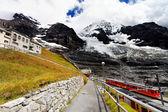Jungfrau Bahn in Eiger Glacier Railwaystation — Stock Photo
