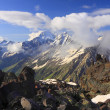 Angel cloud shape in Caucasus Mountains — Stock Photo #26049807