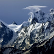 Ushba Peaks, Caucasus Mountains — Stock Photo