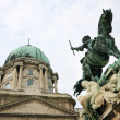 Buda Castle and the statue of Prince Eugene of Savoy — Stock Photo #26050125
