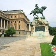 Buda Castle and the statue of Prince Eugene of Savoy — Stock Photo #26050133