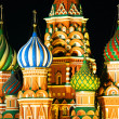 Night view of St. Basil Cathedral, Moscow — Stock Photo #26050345