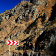 Winding road in Fagaras Mountains, Romania — Stock Photo