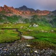 Stock Photo: Sunset light in Fagaras Mountains, Romania, Europe