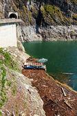 Landscape with dam lake Vidraru, in Romania — Stock Photo