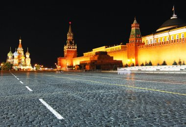Night view of Red Square, Moscow