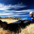 Resting after climbing — Stock Photo