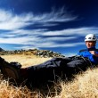 Resting after climbing — Stock fotografie