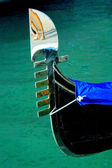 Gondola's fragment close up in Venice — Foto Stock