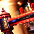 Beer tap - shallow depth of filed — Stock Photo