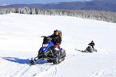 Snowmobile in the outdoors — Stock Photo