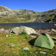 Camping in National Park Retezat, Romania — Stock Photo