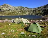 Camping i nationalparken retezat, rumänien — Stockfoto