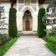 Architectural detail of Putna Monastery, Romania, Europe — Stock Photo #26425125
