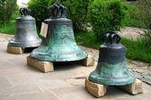 Alten Glocken Putna Kloster, Rumänien, Europa — Stockfoto
