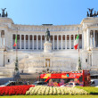 monument a vittorio emanuele ii on the the piazza venezia — Stock Photo