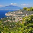Vesuvius Volcano and the Amalfi Coast — Foto de Stock