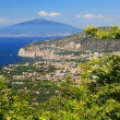 Vesuvius Volcano and the Amalfi Coast — Zdjęcie stockowe