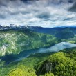 Lake Bohinj from Vogel cable car top station — Stock Photo