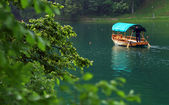 Boat on Lake Bled — Stock Photo