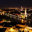 Verona at night — Stock fotografie