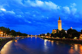 Verona at night - Sant' Anastasia Church — Stock Photo