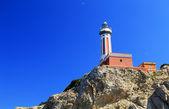 Lighthouse of Capri Island, Italy, Europe — Stock Photo