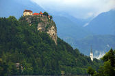 Medieval castle of Bled, Slovenia — Stock Photo