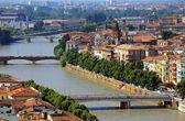 Rivière adige à vérone, italie, europe — Photo