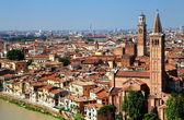 Sant Anastasia Church and Torre dei Lamberti (Lamberti Tower), Verona, Italy, Europe — Photo
