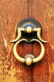 Traditional door in Verona, Italy, Europe — Stock Photo