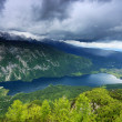 Stormy clouds over Lake Bohinj, Slovenia, Europe — Stock Photo #28104679