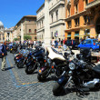 Motorcycle parking in Rome — Photo