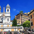 Stock Photo: Piazzdi Spagnin Rome, Italy