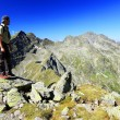 Alpine trekking in the Transylvanian Alps, Romania, Europe — Stock Photo